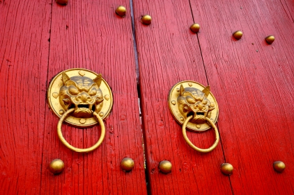 Dragon knockers. Shanghaii