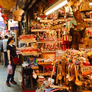 Other than food, the stores sell trinkets of all types and sizes too.