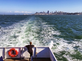 Away to Sausalito. I eventually pulled out my DSLR for a better shot.